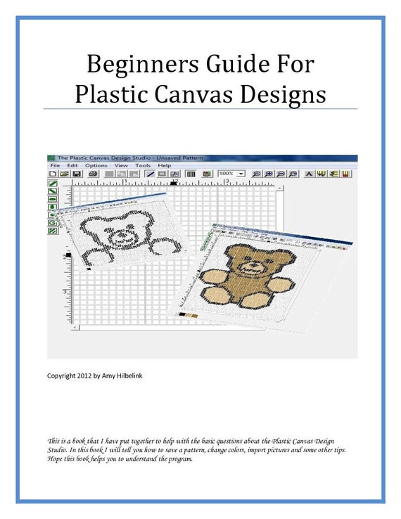 Beginners Guide For Plastic Canvas Patterns Etsy