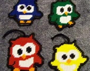 Lil Owl Ornaments Plastic Canvas Pattern