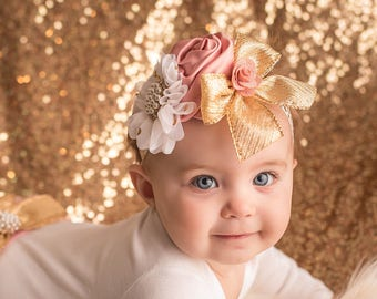 Baby Headband~Hair Accessories for Babies~Baby Girl Headband Bow~Newborn Baby Girl Headband~Baby Girl Hair Accessories~Baby Girl Headband Se