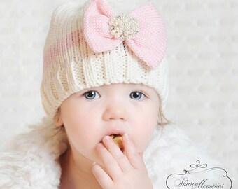 Baby Girl Knit Hats Baby Girl Beanie Newborn Girl Hat Baby Knit Hat Baby  Girl Winter Hat Photo Prop Baby Baby Shower Gift Girl Crochet Hat 7e7c91b98e0