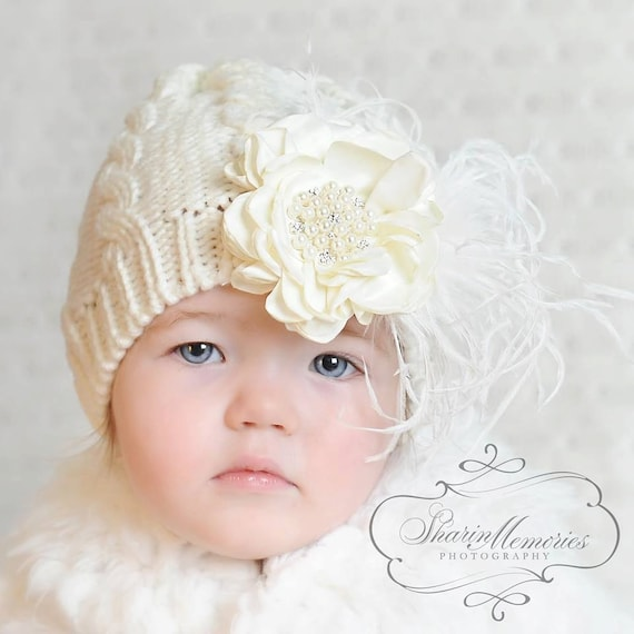 d536df21018 Baby Girl Knit Hats Baby Girl Beanie Newborn Girl Hat Baby