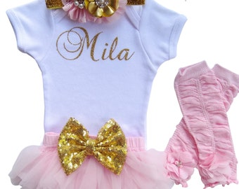 Personalized Bodysuit~Bodysuit Baby Girl~Coming Home Outfit~Baby Girl Coming Home Outfit~Newborn Bodysuit Girl~Toddler Outfit~Photo Prop