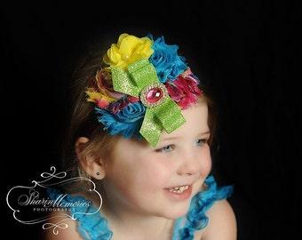 Rainbow Headband/Toddler Headband/Girl Headband/Newborn Headband/Easter Headband/Birthday Headband/Baby Headband/Photo Prop/Spring Headband