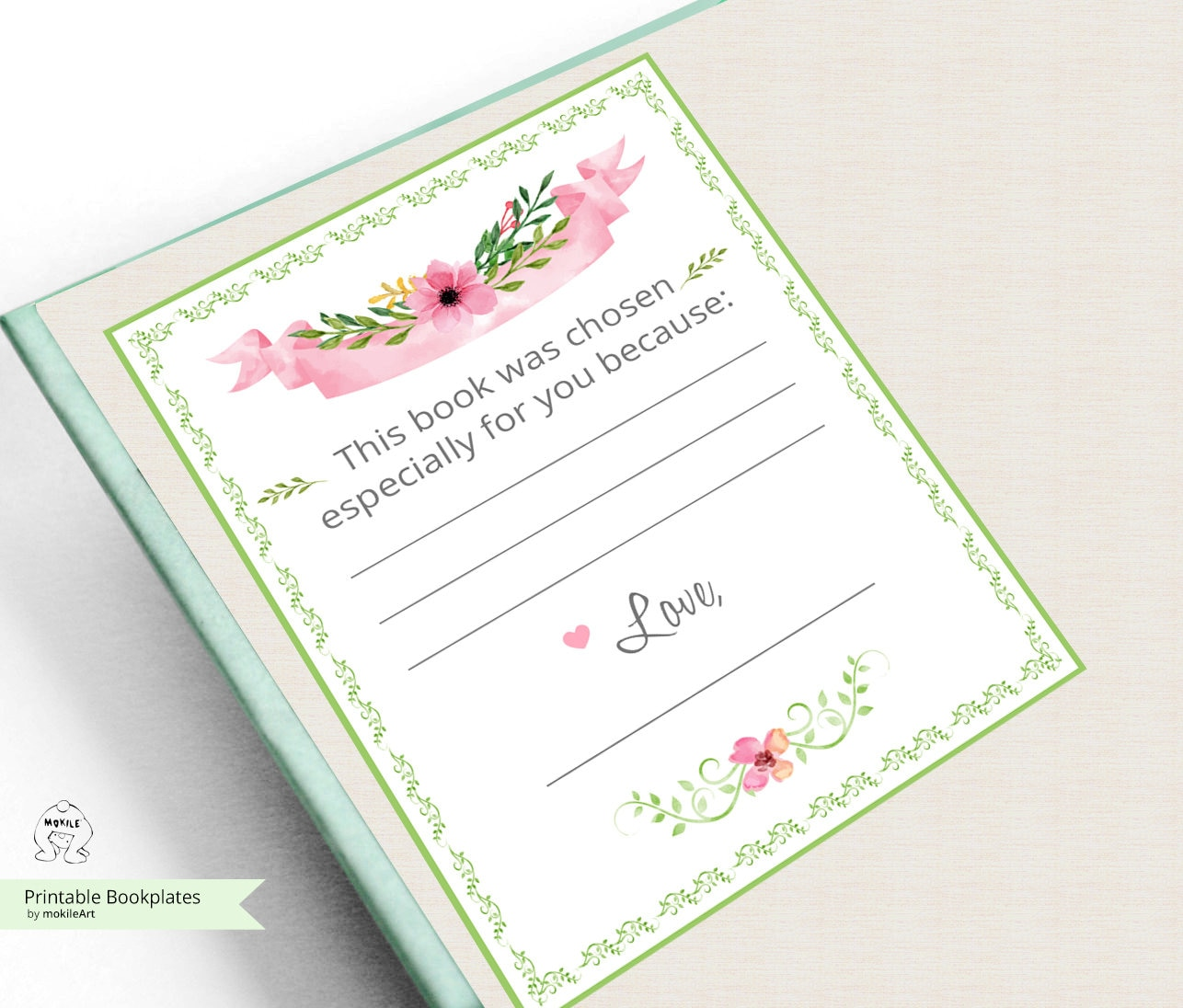 Printable Bookplate Baby Shower Bookplates Book Plates Instant Etsy
