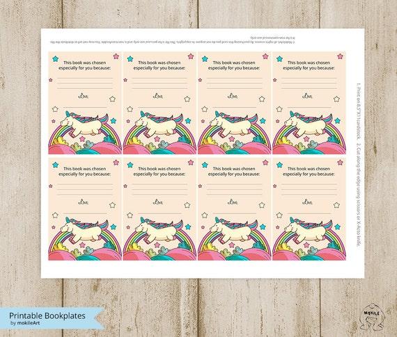 graphic regarding Printable Bookplates identify unicorn-Printable Bookplates -Kid Shower Bookplates-E book Plates-Fast Obtain-Bookplates-delight in Bookplates-Childrens Bookplate,E book-themed