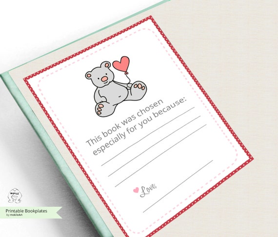Baby Bookplate Sticker Bookplate Stickers Baby Bunnies Book Etsy