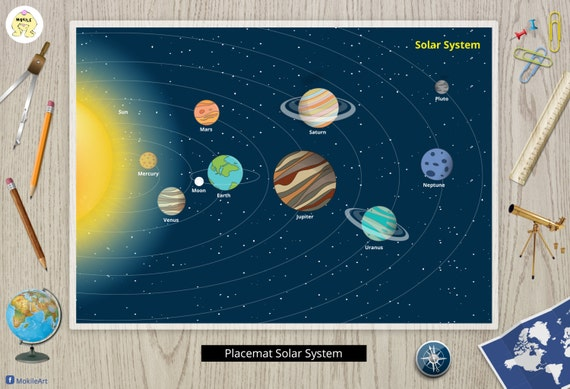 Solar System Painless Learning 3 Placemat Bundle Dinosaurs Rocks and Minerals
