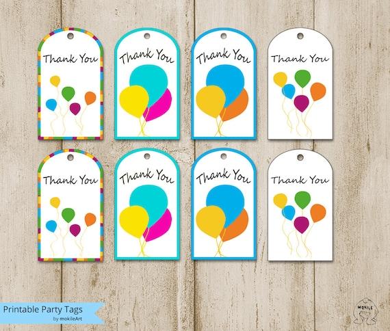 birthday tags printable thank you tags templatesprintable etsy