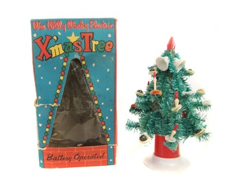 wee willy winkey electric christmas tree battery operated lighted christmas tree decoration 1950s christmas decorations - 1950s Outdoor Christmas Decorations