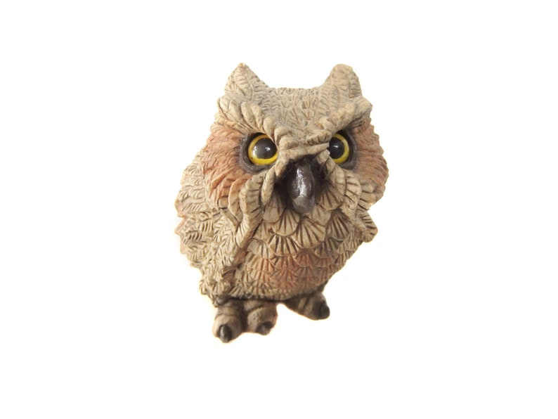 Owl Vintage Figurine Owl Statue Woodland Owl Decor Owl Home   Etsy