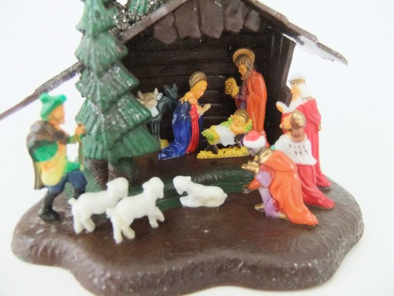Nativity Scene Vintage Plastic Nativity Decoration