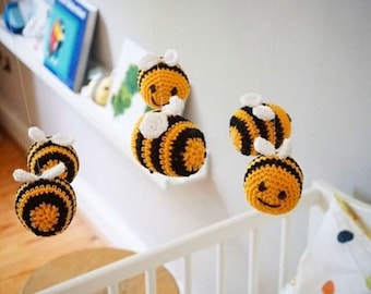 Crochet Kit Crochet Set Babymobile Bee Bumblebee Crochet DIY Kit Set