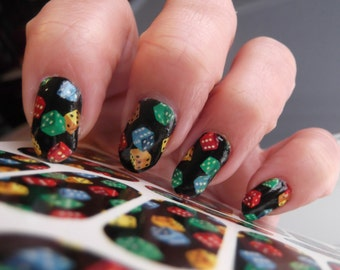 Casino Nail Art Etsy