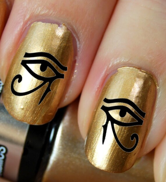 image 0 - 44 Eye Of Horus / Ra Egyptian Nail Art EYB Black Etsy