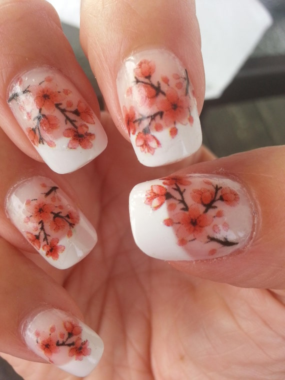 33 Cherry Blossoms Nail Art Cbl Waterslide Transfers Decals Etsy