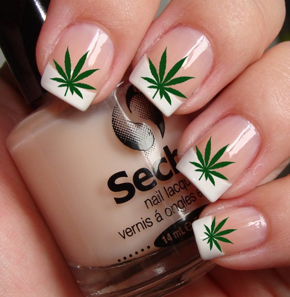 POT LEAVES Marijuana Pot Nail Art PTG Waterslide Transfer | Etsy