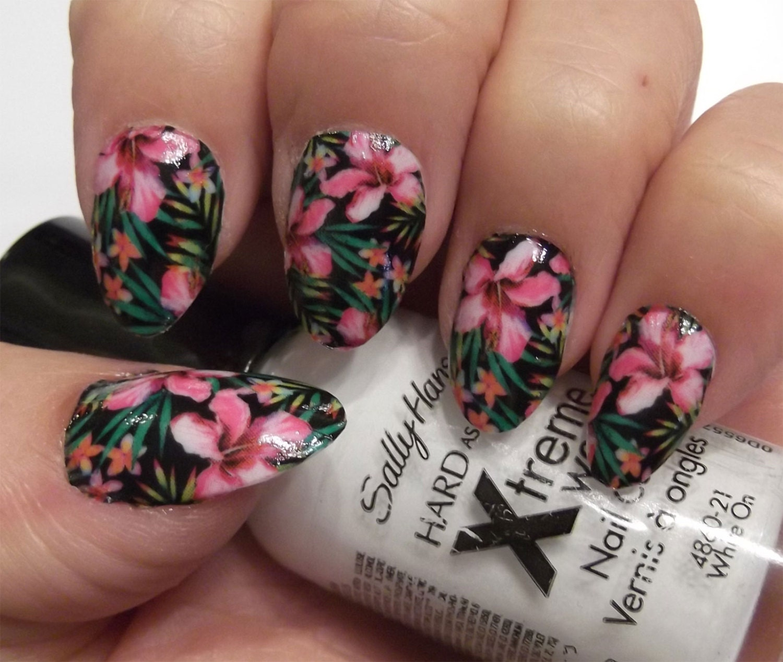 18 hibiscus flowers hbf vacation full nail wrap kawaii etsy zoom izmirmasajfo