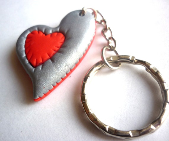 Valentine S Day Keychain Heart Keychain Heart Shaped Etsy