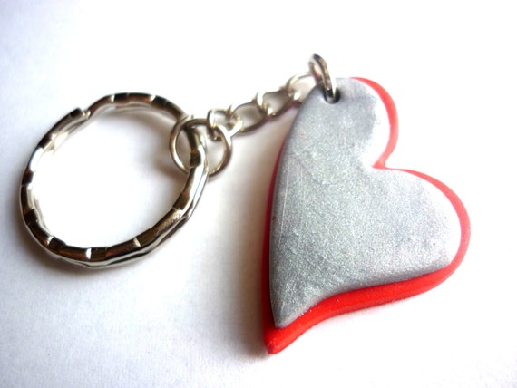 Valentine S Day Keychain Double Heart Keychain Double Etsy