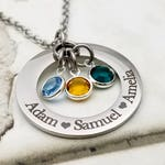 Customized Name and Birthstone Necklace