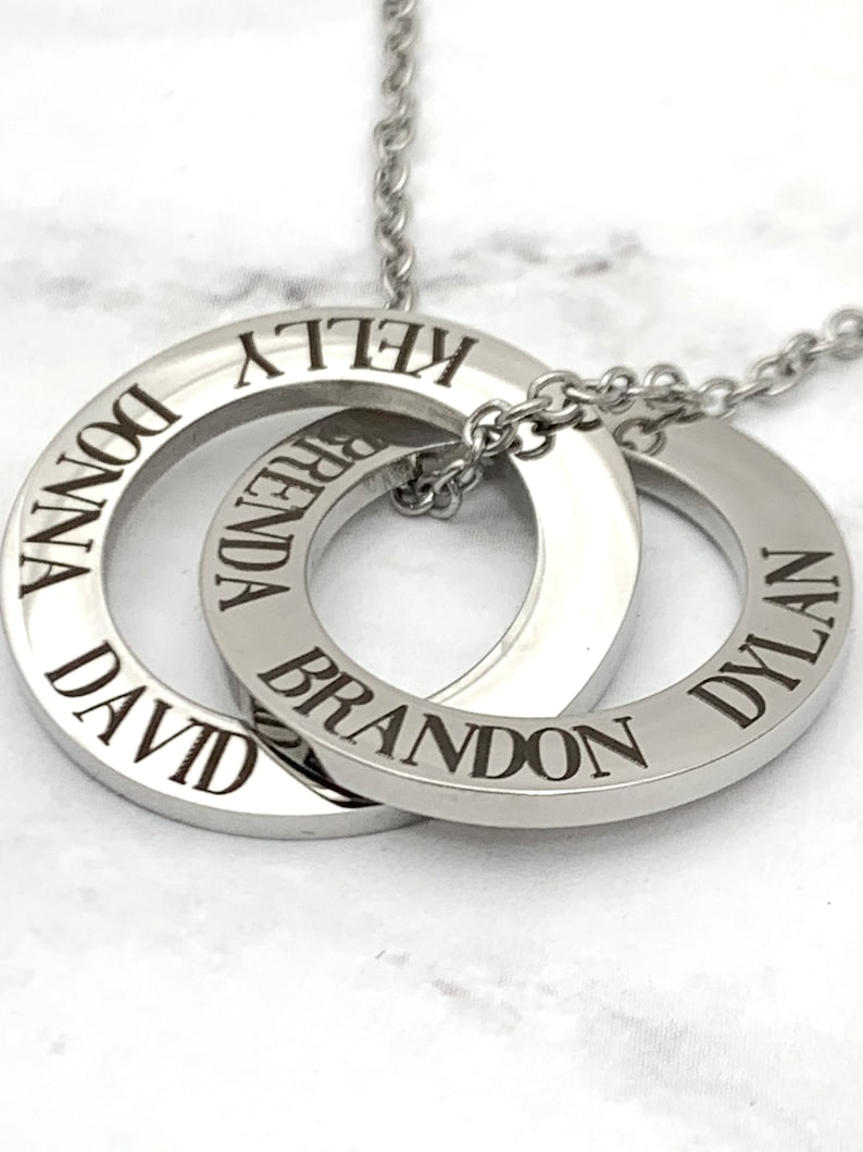 Interlocking double pendant Russian Ring Necklace family image 0