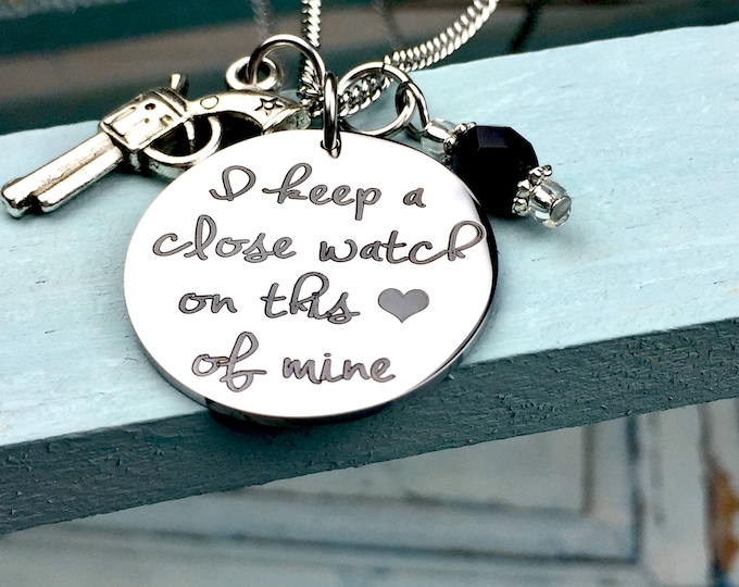 I keep a close watch on this heart of mine charm necklace, johnny cash, Walk the line, music
