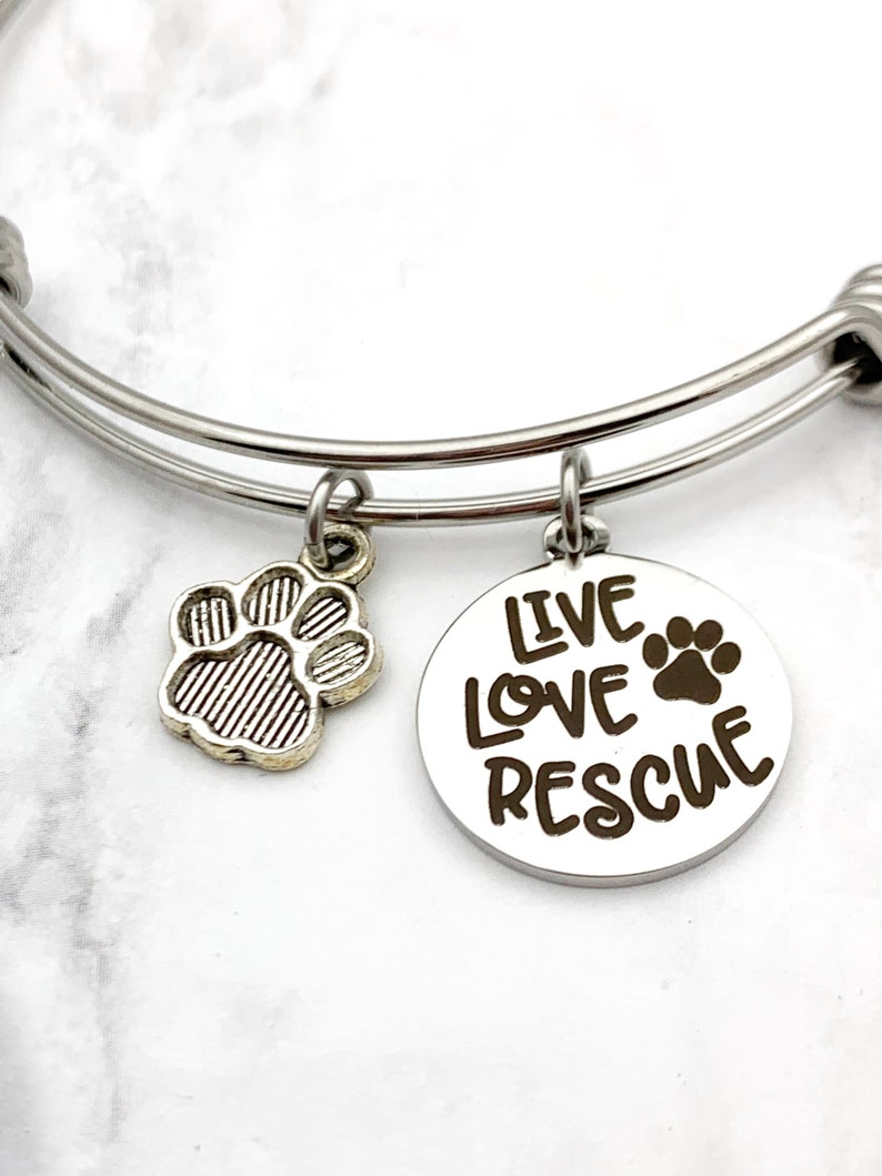 Live Love Rescue Charm Bracelet pet rescue bracelet animal image 0