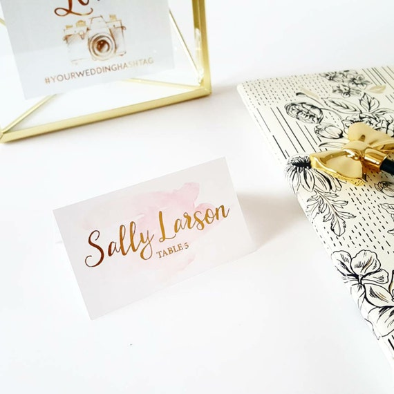 Tischkarten Hochzeitskarten Gold Namenskarten Hochzeit Etsy