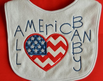 All American Baby Appliqued Baby Bib