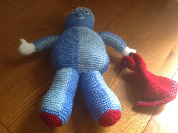 Hand Knitted Iggle Piggle Soft Toy From In The