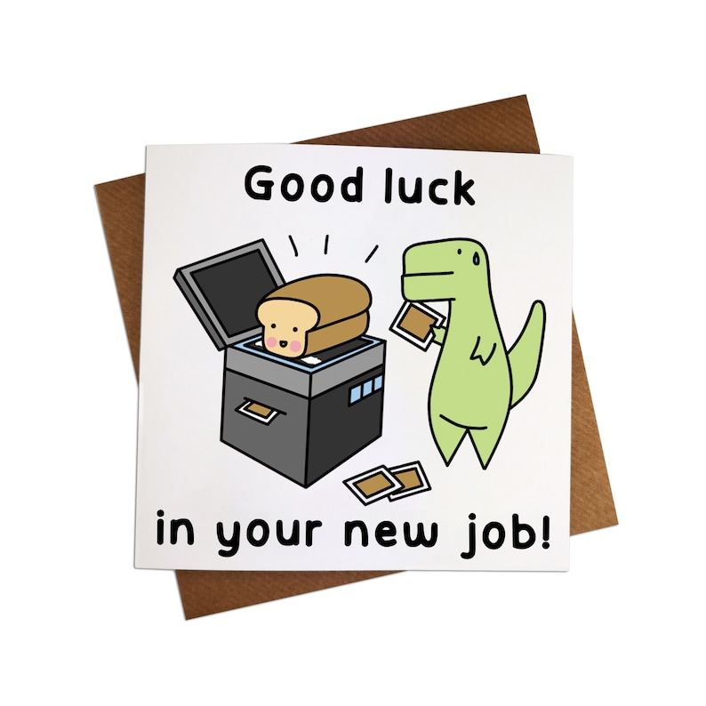 good luck in your new job greeting card new job greeting