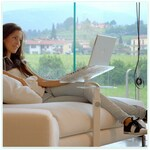 Lounge-book Crystal White. Stand for Tablet PC, I-Pad, E-book Reader  100% Made in Italy