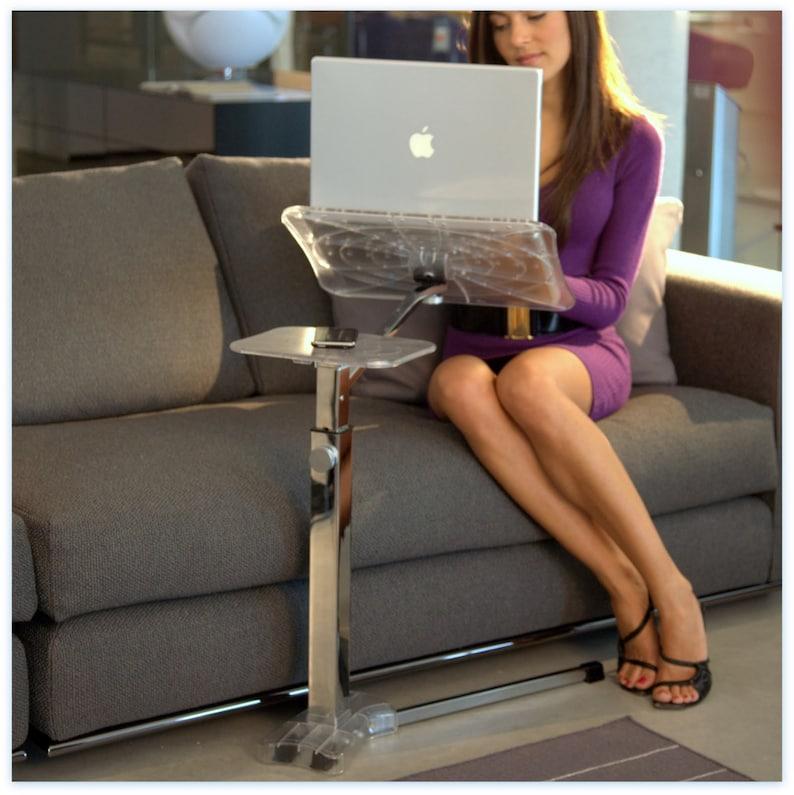 Lounge-book Crystal Chrome  Style Laptop Desk Fully image 0