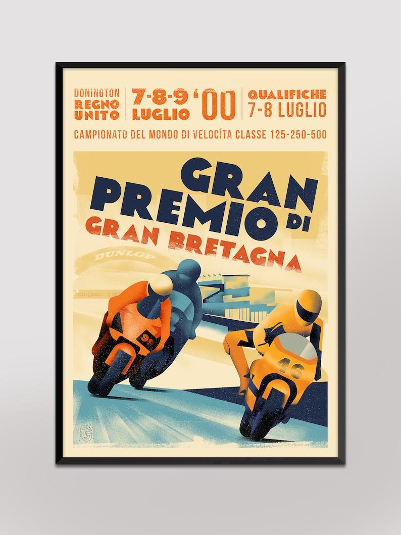 297x420mm 2000 British Grand Prix Poster A3