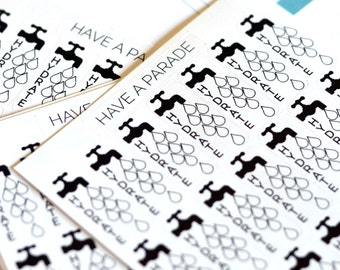 28 Hydrate Stickers for your Erin Condren Life Planner