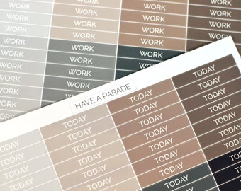 56 Header Stickers Neutral Colors (Simple/Clean Font) for your Erin Condren Life Planner