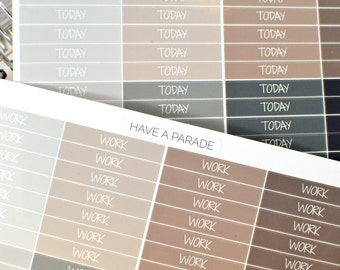 56 Header Stickers Neutral Colors (Fun/Scripty Font) for your Erin Condren Life Planner