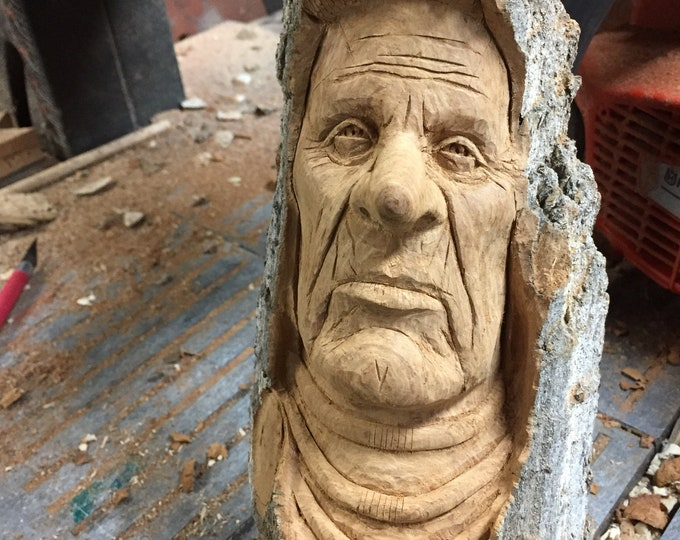 Creative Wood Carving, Amazing Indian Carving, Beautiful Art by Sculptor, Chainsaw Carving, by Josh Carte, Log Home Decor, Perfect Birthday