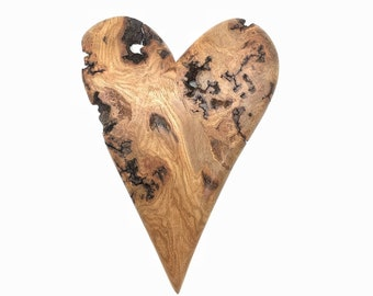 Heart Wood Carving, Valentine's Day Gift, Hand Carved Wood Art, Handmade Woodworking, by Josh Carte, Made in Ohio