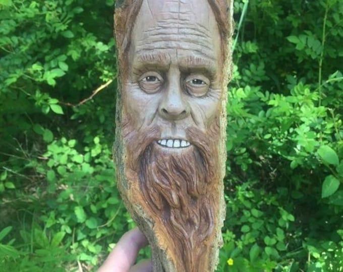 SUMMER SALE Bigfoot Wood Carving, Sasquatch Wall Art, Yeti Sculpture, by Josh Carte, Made in Ohio, Bigfoot Wood Art, Hand Carved Wood Art