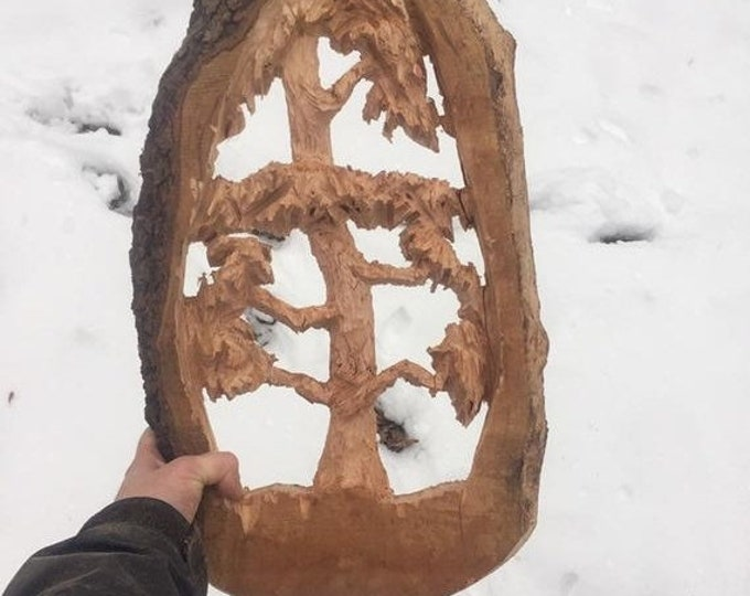 20% Off Sale Tree Wood Carving, Chainsaw Carving, by Josh Carte, Very Unique Gift, Hand Carved Wood Art, Made in Ohio, Fantastic Chainsaw Ar