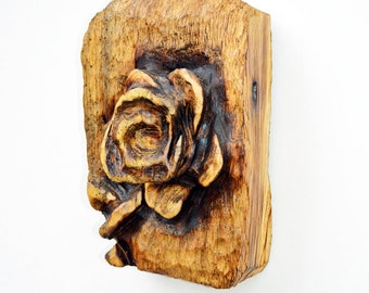 Mick burns chainsaw sculptor gallery flower themed bench