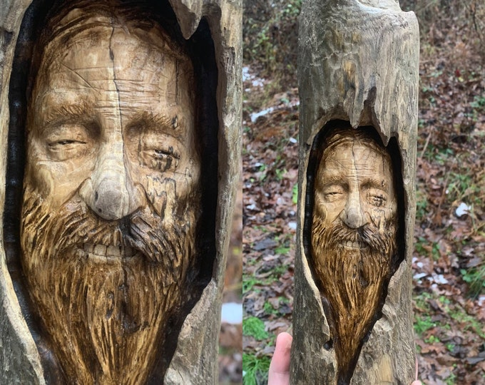 Driftwood Carving, Wood Carving, Hand Carved Wood Art, by Josh Carte, Driftwood Art, Handmade Woodworking, Unique Sculpture, Made in Ohio