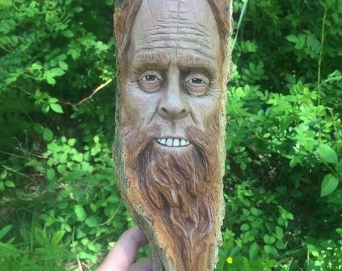 Halloween SALE Bigfoot Wood Carving, Sasquatch Wall Art, Yeti Sculpture, by Josh Carte, Made in Ohio, Bigfoot Wood Art, Hand Carved Wood Art