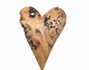 20% Off Sale Heart Wood Carving, Valentine's Day Gift, Hand Carved Wood Art, Handmade Woodworking, by Josh Carte, Made in Ohio