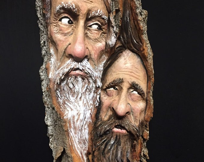 Wood Carving, Chainsaw Carving, Wood Spirit Carving, Hand Carved Wood Art, Perfect Wood Gift, Original Art