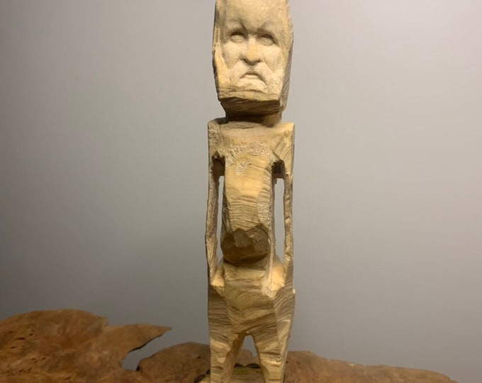 Wood Carving, Unique Sculpture, Hand Carved Wood Art, Original Wood Sculpture, by Josh Carte, Made in Ohio, Wooden Art