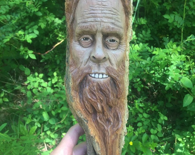 Bigfoot Wood Carving, Sasquatch Wall Art, Yeti Sculpture, by Josh Carte, Made in Ohio, Bigfoot Wood Art, Hand Carved Wood Art