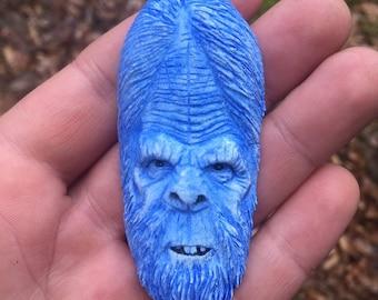 Sasquatch Pendant, Bigfoot Charm, Yeti, Blue Sasquatch, Resin Pendant, by Josh Carte, Made in Ohio