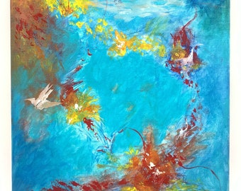 Abstract Acrylic Painting, Original Painting, Abstract Art, Original Art, by Josh Carte, Painting on Canvas, Unique Art, Abstract Original
